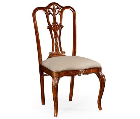 Jonathan Charles - Mahogany 18th Century Style Dining Side Chair - 492476