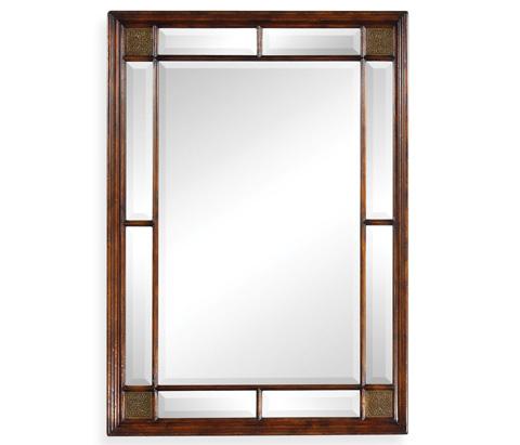 Jonathan Charles - Rectangular Walnut Panelled Mirror - 492667