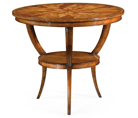 Jonathan Charles - Two-Tier Marquetry Centre Table - 492726