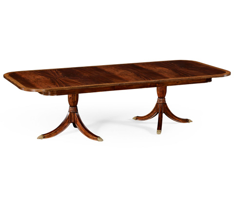 Jonathan Charles - Regency Two Leaf Mahogany Extending Dining Table - 492865