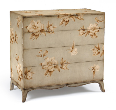 Jonathan Charles - Large Painted Floral Chest - 493163