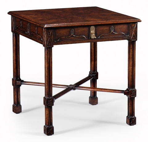 Jonathan Charles - Chippendale Gothic Square Side Table - 493228