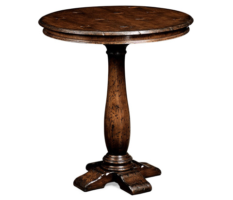 Jonathan Charles - Round Dark Oak Bar Table - 493358
