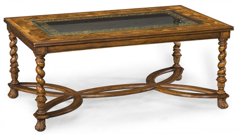 Jonathan Charles - Rectangular Oyster and Eglomise Coffee Table - 493447