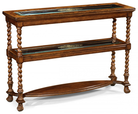 Jonathan Charles - Two-Tier Oyster Etagere - 493502