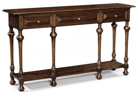 Jonathan Charles - Elizabethan Style Dark Oak Console - 493549