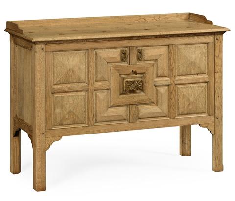 Jonathan Charles - Natural Oak Tudor Style Cabinet - 493597-L