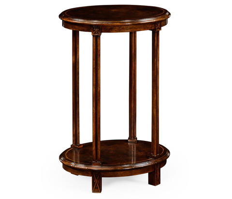 Jonathan Charles - Dark Walnut Oval Lamp Table - 493599