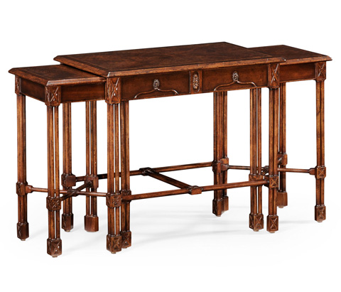 Jonathan Charles - Chippendale Gothic Nest of Tables - 493896
