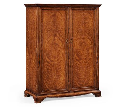 Jonathan Charles - Large Crotch Walnut Wardrobe - 494238