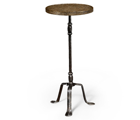 Jonathan Charles - Textured Brass and Iron Lamp Table - 494344