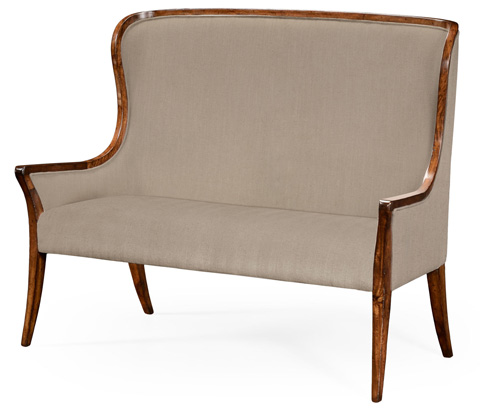 Jonathan Charles - High Curved Back Upholstered Settee - 494352