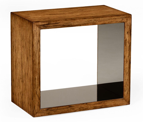 Jonathan Charles - Argentinian Walnut and Black Glass Side Table - 494402