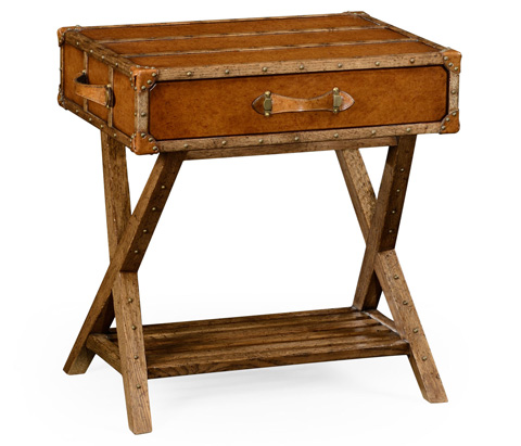 Jonathan Charles - Travel Trunk Style Side Table - 494464
