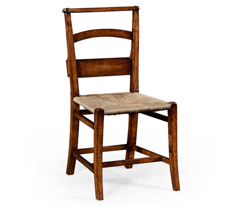 Jonathan Charles - Rustic Walnut Church Side Chair - 494546