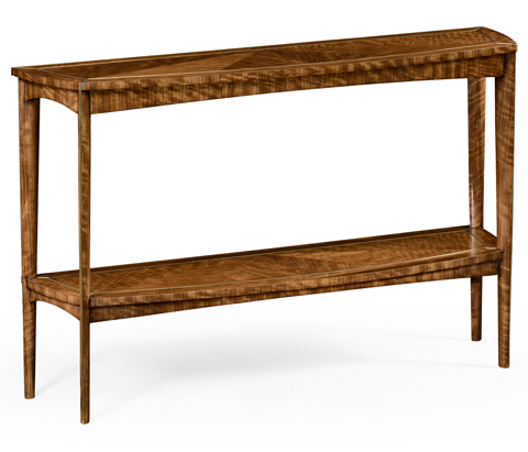 Jonathan Charles - Hyedua And Brass Curved Console - 494687