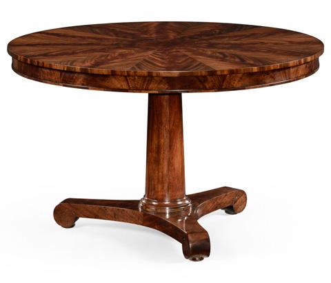 Jonathan Charles - Flame Mahogany Biedermeier Breakfast Table - 494776
