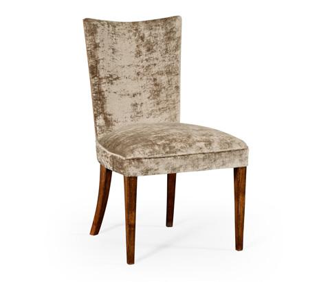 Jonathan Charles - Biedermeier Style Walnut Dining Side Chair - 494809-F6