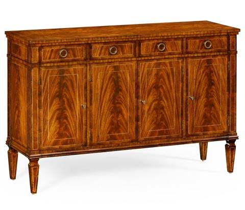 Jonathan Charles - Regency Style Crotch Walnut Sideboard - 494843