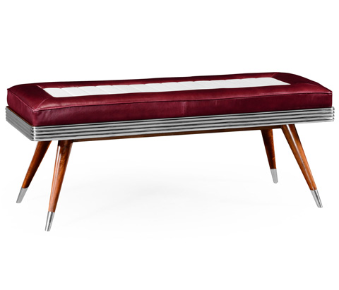 Jonathan Charles - 50's Americana Leather Bench - 494857