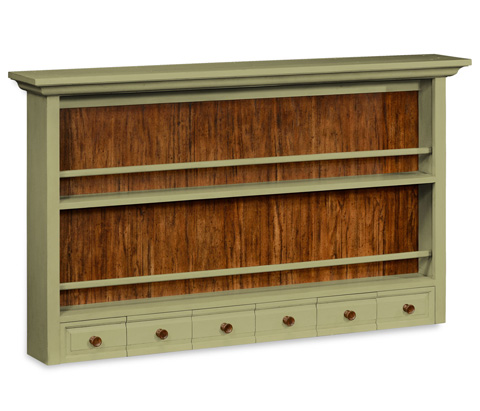 Jonathan Charles - Gustavian Style Walnut Plate Rack - 494879