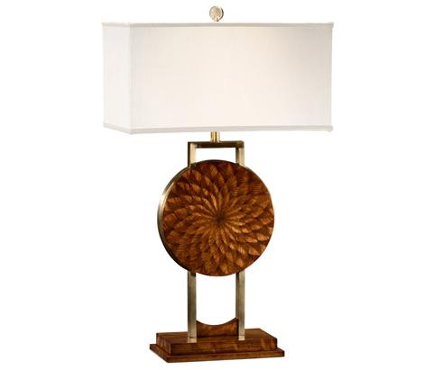 Jonathan Charles - Feather Inlay Table Lamp - 494988-ZEB