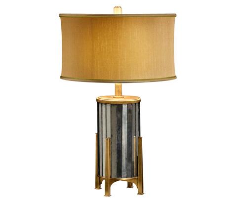 Jonathan Charles - Eglomise And Gilt Metal Table Lamp - 494990