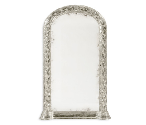 Jonathan Charles - Carved And Silver Gilded Hanging Wall Mirror - 495146-SIL