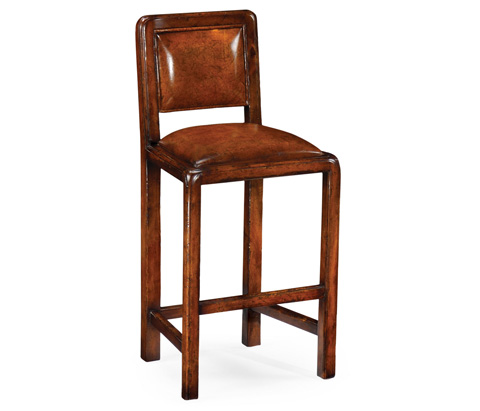Jonathan Charles - Counter Side Chair With Leather Upholstery - 492687