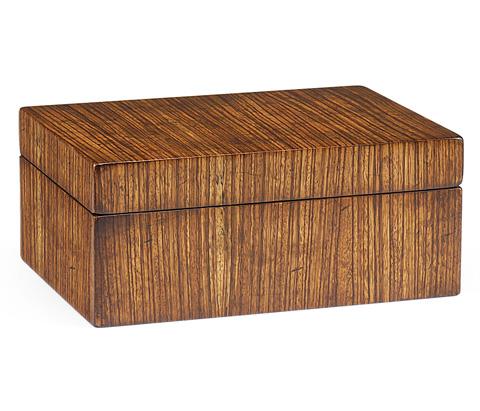 Jonathan Charles - Exotic Zebrano Rectangular Box - 492889