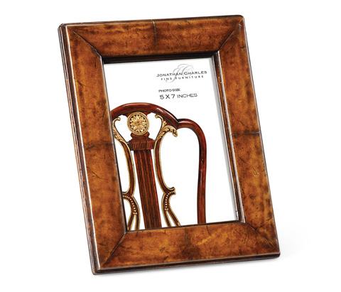 Jonathan Charles - Brown Leather Picture Frame - 493319