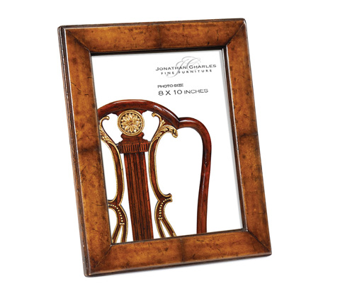 Jonathan Charles - Brown Leather Picture Frame - 493321