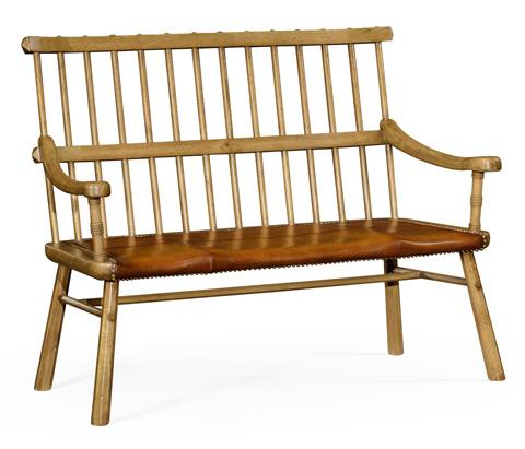 Jonathan Charles - Natural Oak Country Bench - 493538-L
