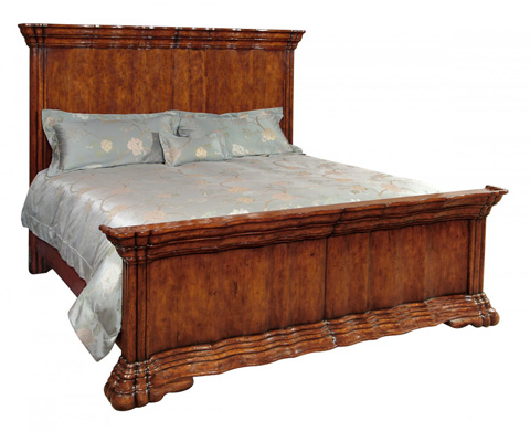 Jonathan Charles - Serpentine Walnut Bed - 493807