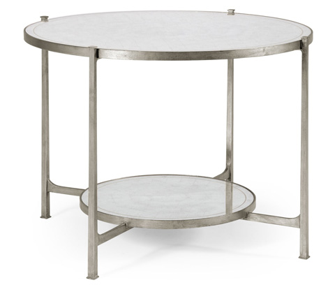 Jonathan Charles - Transitional Silver Iron Centre Table - 494104-S