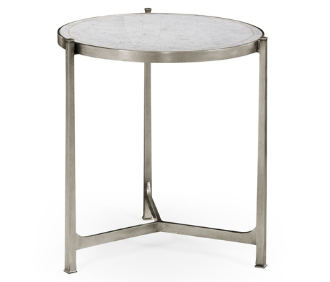 Jonathan Charles - Silver Iron Lamp Table - 494140-S