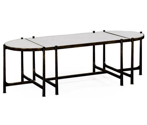 Jonathan Charles - Bronze Iron Bunching Tables - 494148-B