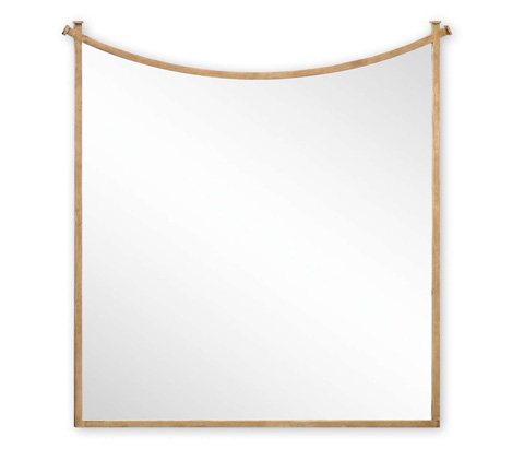 Jonathan Charles - Gilded Iron Mirror With Curved Top - 494160-G