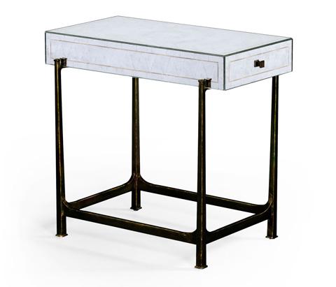 Jonathan Charles - Bronze Iron Box Top Side Table - 494185-B