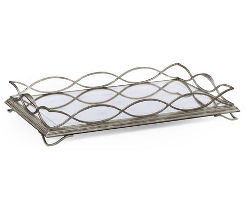 Jonathan Charles - Silver Iron Rectangular Tray - 494201-S