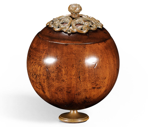 Jonathan Charles - George III Round Walnut Box With Brass Mounts - 494293