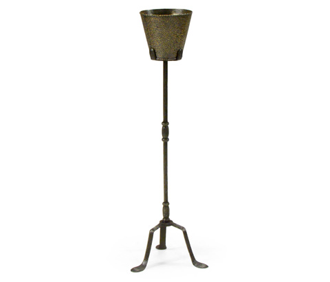 Jonathan Charles - Textured Brass and Iron Planter - 494345