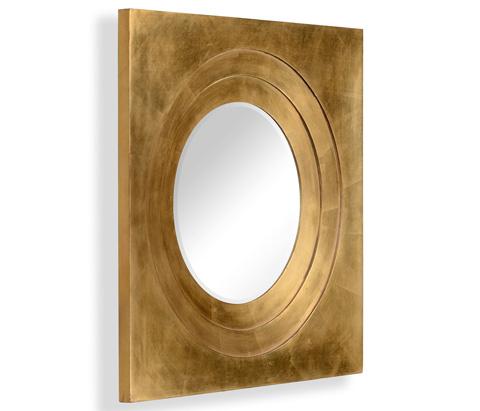 Jonathan Charles - Gilded Framed Round Mirror - 494772-GIL