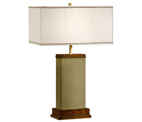 Jonathan Charles - Sage Finish Hyedua Rectangular Table Lamp - 494972-CO2