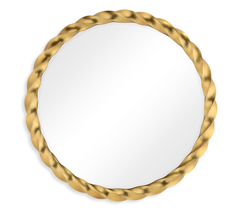 Jonathan Charles - Gilded Twisted Mirror - 495142-GIL