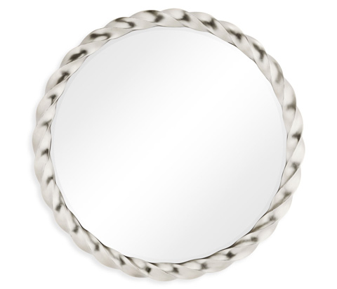 Jonathan Charles - Silver Twisted Mirror - 495142-SIL