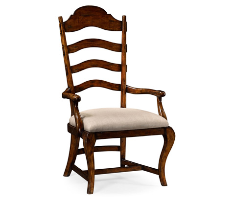 Jonathan Charles - Rustic Walnut Dining Arm Chair - 495293-AC-RWL
