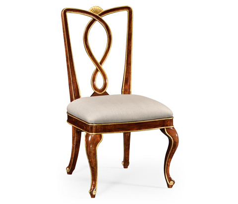 Jonathan Charles - Antique Mahogany Brown Dining Side Chair - 495301-SC-BMA