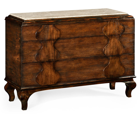 Jonathan Charles - Rustic Walnut Chest Of Drawers - 495320-RWL