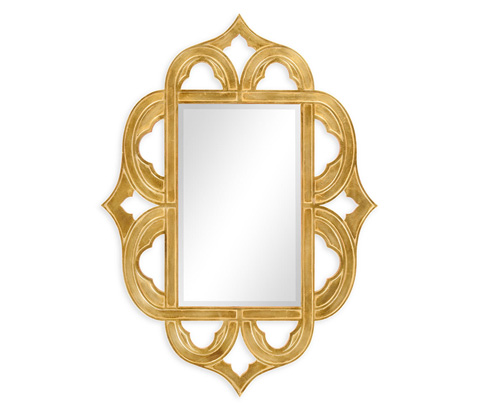 Jonathan Charles - Gilded Antique Gold-Leaf Mirror - 495336-GIL